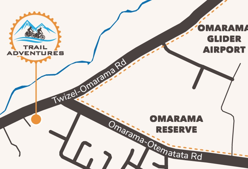 Map to Trail Adventures Depot